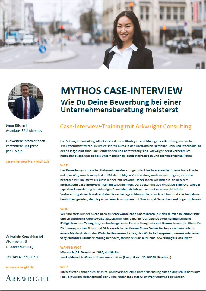 "Zum Artikel ""Case-Interview-Training mit Arkwright Consulting"""