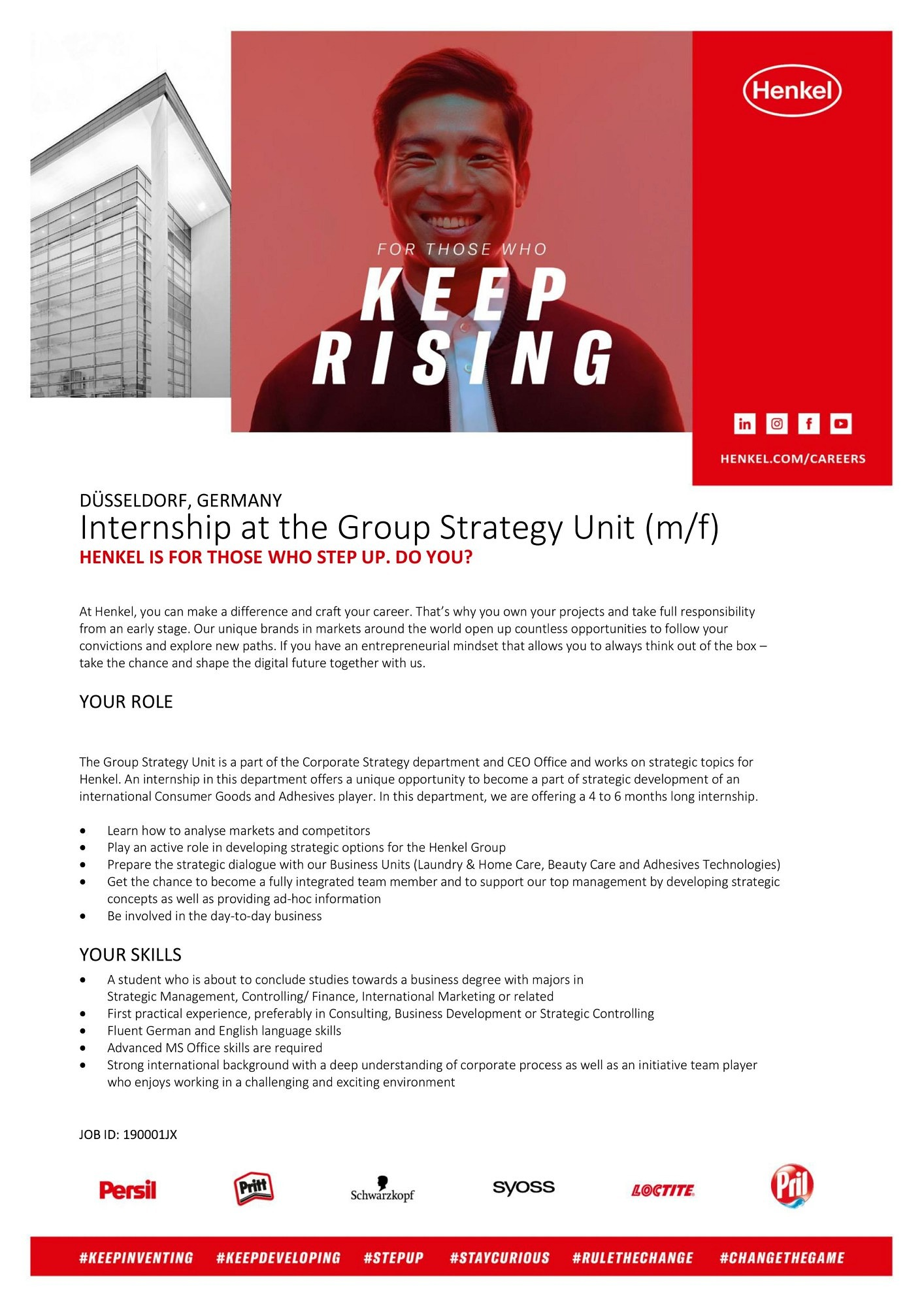 "Zum Artikel ""Henkel AG: Internship at the Group Strategy Unit (m/f/d)"""