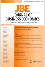 "Zum Artikel ""Neue Publikationen zum Thema ""Value-creation and Innovation in the Digital Age"" im Journal of Business Economics"""
