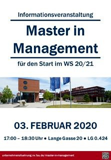 "Zum Artikel ""Informationsveranstaltung Master in Management"""